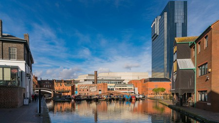 Brindley Place, Birmingham, has a pretty, canal-side location – featuring restaurants, bars and cultural attractions