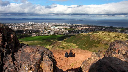 The steep hike to Arthur's Seat is rewarded with sweeping views