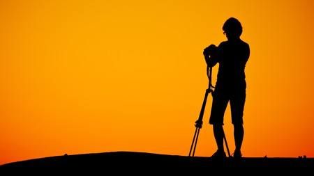 A photographer captured at work on the Eyre Peninsula in South Australia