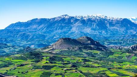 Psiloritis mountains in Crete, Greece
