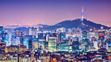 DNCE6N Seoul, South Korea city skyline nighttime skyline.