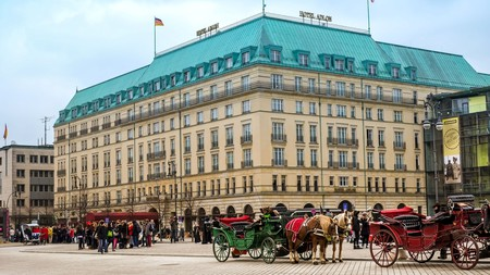 Check into the Hotel Adlon Kempinski, near the Brandenberg Gate, and enjoy Berlin city tours and a limousine service