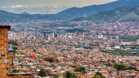 View over the city of Medellín, Colombia
