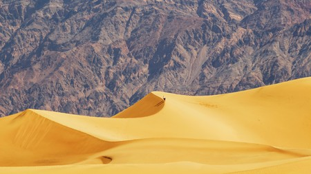 The otherworldly Mesquite Flat Sand Dunes are part of Death Valley National Park