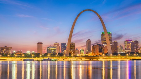 Up the romance factor in St Louis by booking a room with a view of the Gateway Arch