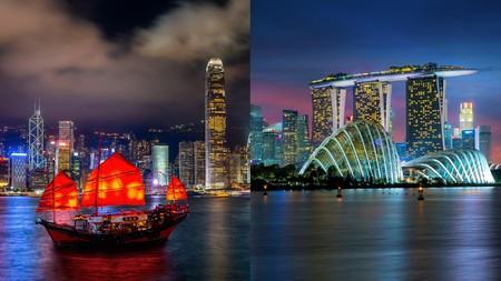Hong Kong (left) and Singapore each have their own peculiarities, but both are visually irresistible destinations