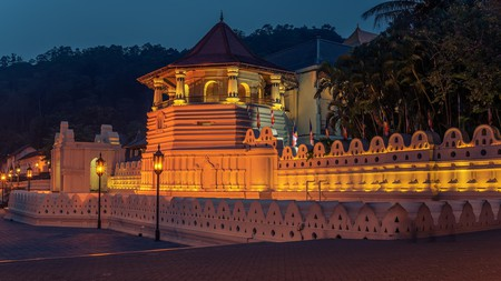 The Temple of the Tooth allegedly houses a tooth of the Buddha. Its cultural significance helped earn the city of Kandy World Heritage Site status in 1988
