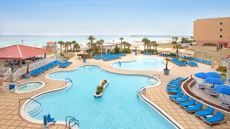 Stay cool in the pools at the Hilton Pensacola Beach