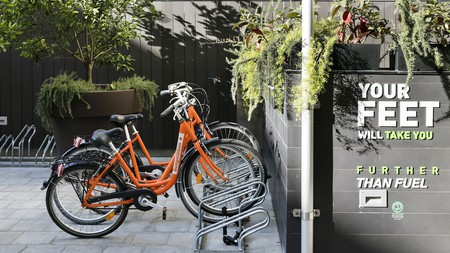 Rent a bike at the eco- and budget-friendly Hotel Andante in Barcelona