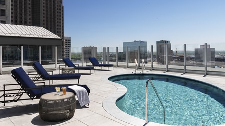 Hotel Saint Louis, Autograph Collection offers a spot of poolside relaxation after a day seeing the sights