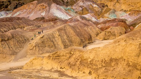 Visit Artists Palette in Death Valley National Park to see art that only nature could create