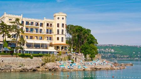 For waterfront views, book a room at Hotel Miramar in Opatija, Croatia