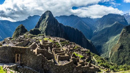 Machu Picchu is a 15th-century Inca citadel high in the Peruvian Andes