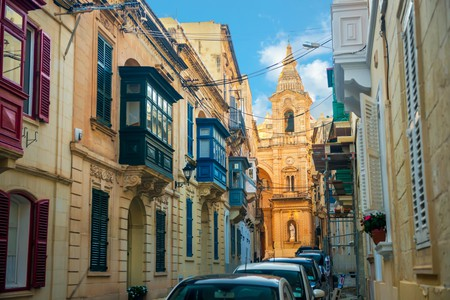 Sliema's quiet backstreets are full of beautiful architecture
