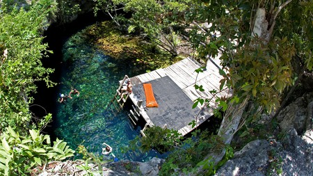 The Gran Cenote near Tulum is popular with swimmers, snorkelers and divers