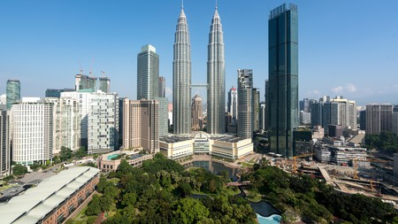 Get up close and personal with the Kuala Lumpur skyline from a city-centre pad