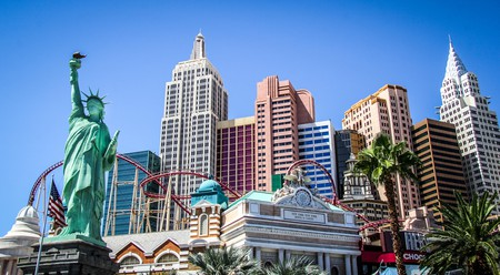 Visit the New York-New York Hotel and Casino in Las Vegas for a thrilling date on the Big Apple Coaster