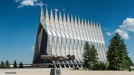 The Cadet Chapelat the U.S. Air Force Academy in Colorado Springs is an impressive architectural feat