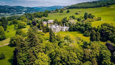 Pale Hall, once visited by Queen Victoria, sits amid spectacular scenery