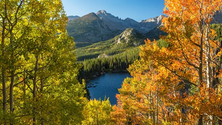 Even short hikes around Bear Lake, in Rocky Mountain National Park, come with spectacular mountain views