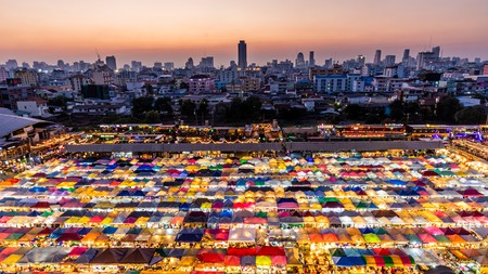 You can spend hours exploring the Train Night Market Ratchada in Bangkok