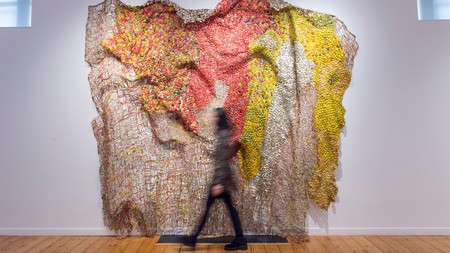 The Ghanaian artist El Anatsui is renowned for his distinctive, recycled metal sculptures