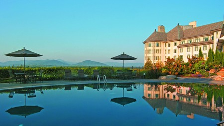 The Inn on Biltmore Estate, home of the legendary Vanderbilt family, is a Blue Ridge Mountain luxury resort, with its own winery, hiking trails, and Antler Hill Village to explore