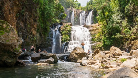 The Valley of the Waterfalls in the Dominical province has a dozen or so cascades to admire