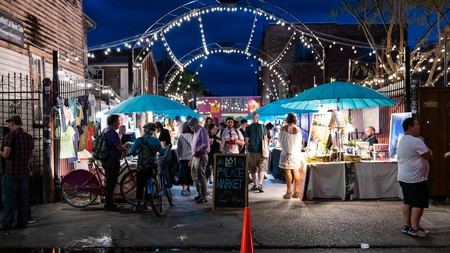 The Palace Art Market is great place to stop by on an evening stroll