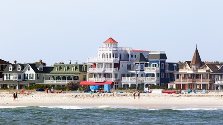 Take a stroll along Cape May's famous Beach Avenue, home to shops and beautiful architecture