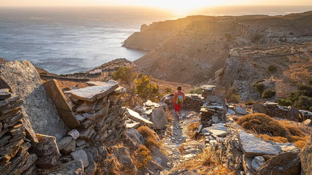 Zagora, on Andros, is the site of Early Iron Age settlement that dates back almost 3,000 years
