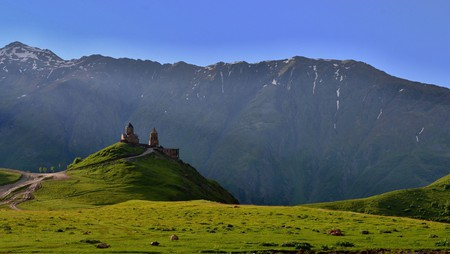 Stepantsminda in Kazbegi is one of the most stunning mountain towns to visit in Georgia