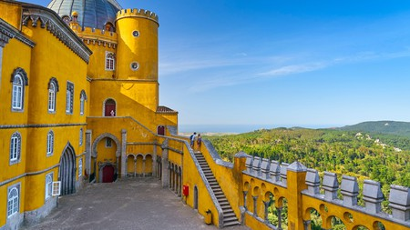 Pena Palace, in Sintra, which is half an hour's drive from the capital