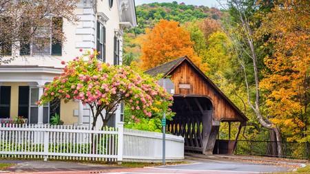 Woodstock, Vermont, USA Middle Covered Bridge
