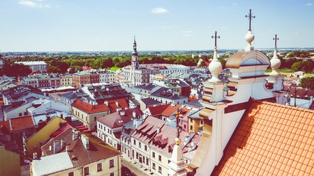Colourful Zamosc is blessed with a wealth of renaissance and baroque architecture