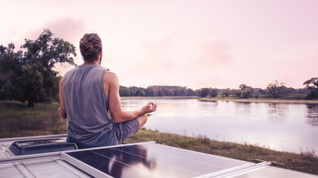 Carve out a time in the day to practise guided meditation