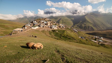 The remote village of Khinalug is one of the highest settlements in Europe