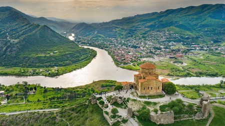 Soak up the spectacular views over Jvari Monastery on a visit to Mtskheta
