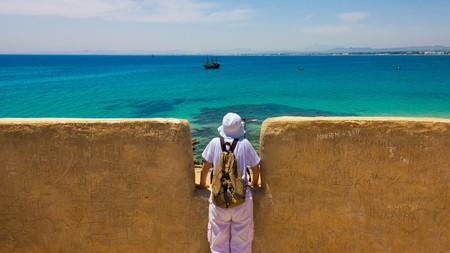 The Kasbah of Hammamet is a 13th-century fortress with views over the picturesque harbour