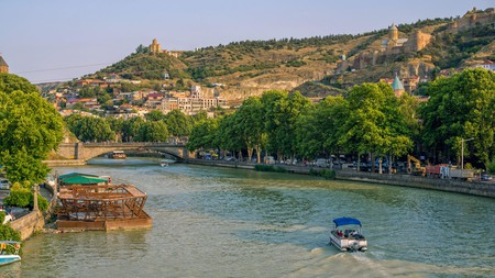 Summer is hot in Tbilisi, so remember to keep hydrated as you stroll alongside the Kura River