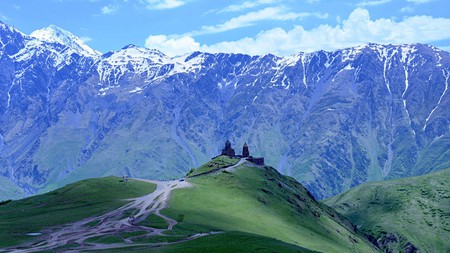 Georgia offers a wide range of hiking opportunities, often in beautiful and very remote spots like Gergeti Trinity Church