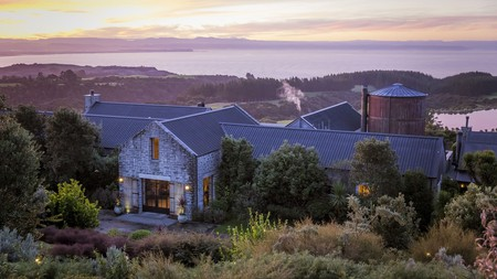 The opulent cottages at the Farm at Cape Kidnappers overlook the Pacific Ocean