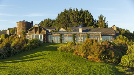 Rustic suites, a tranquil spa and a wine cellar await at the rural Farm at Cape Kidnappers