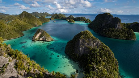 The lagoon and karst limestone formations of Wayag Island are one of Indonesia's top beauty spots
