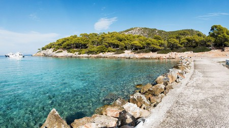 The Greek island of Agkistri is easily accessible from Athens, and home to some stunning beaches