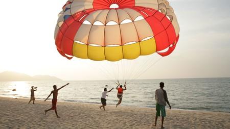 Go parasailing on Batu Ferringhi in Penang