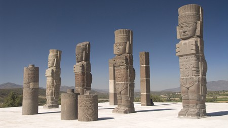 The Atlantes of Tula are said to be towering basalt sculptures of Toltec warriors