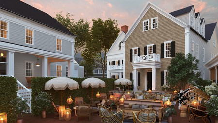 Faraway Nantucket has a beautiful courtyard where you can relax with a drink