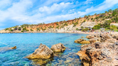 Cala d'Hort has some of the clearest water to be found anywhere on Ibiza