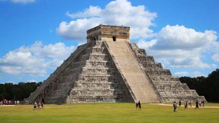 Kukulcán is built on top of an earlier pyramid
